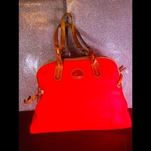 Dooney & Bourke red large domed satchel